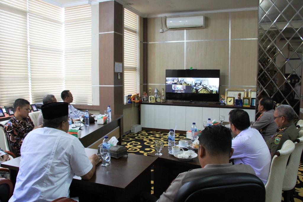 Kabupaten Solok Selenggarakan Video Conference Dalam Rangka Peresmian Sumatera Barat Command Center