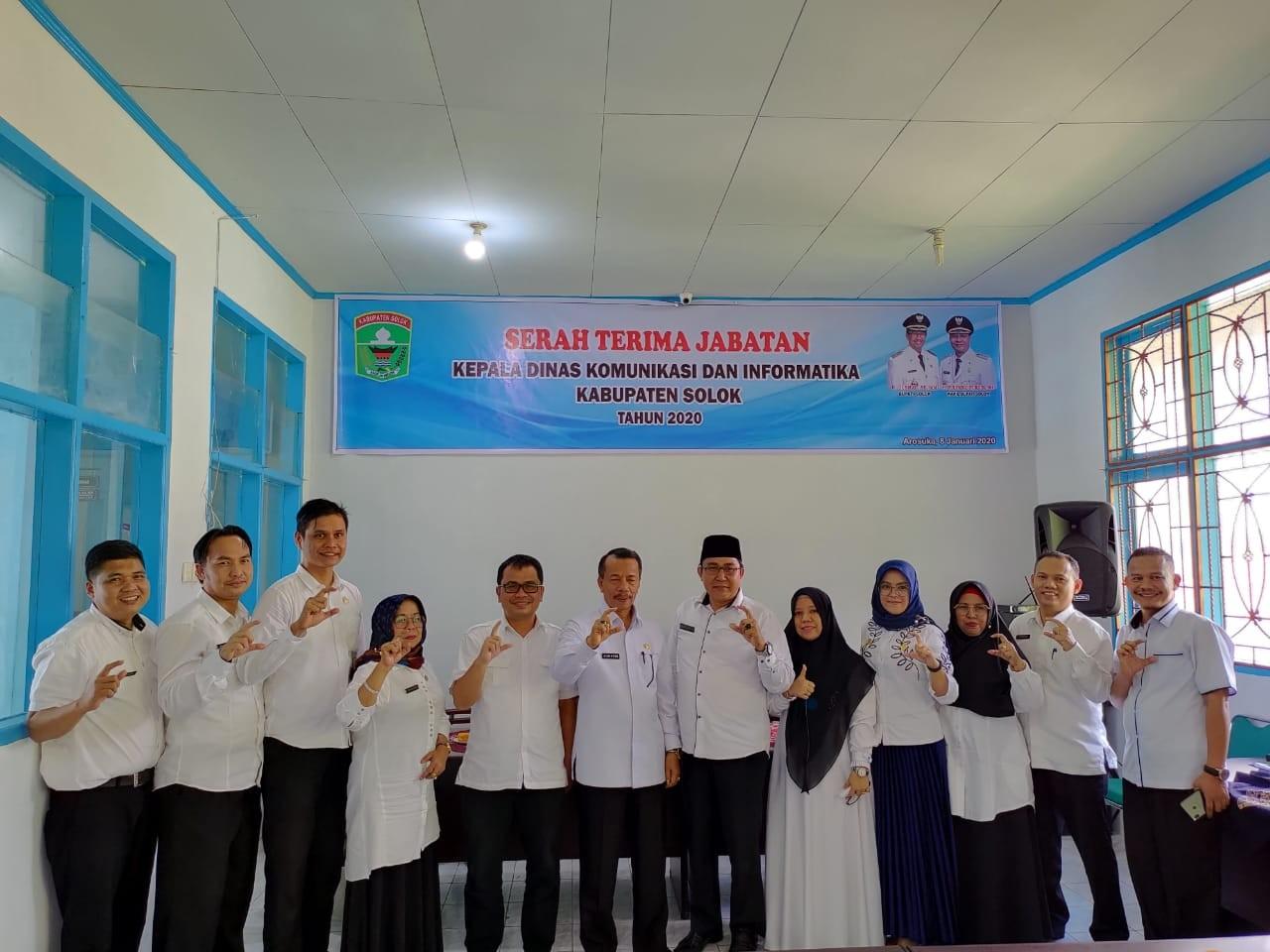 Serah Terima Jabatan Kepala Dinas Kominfo Kabupaten Solok